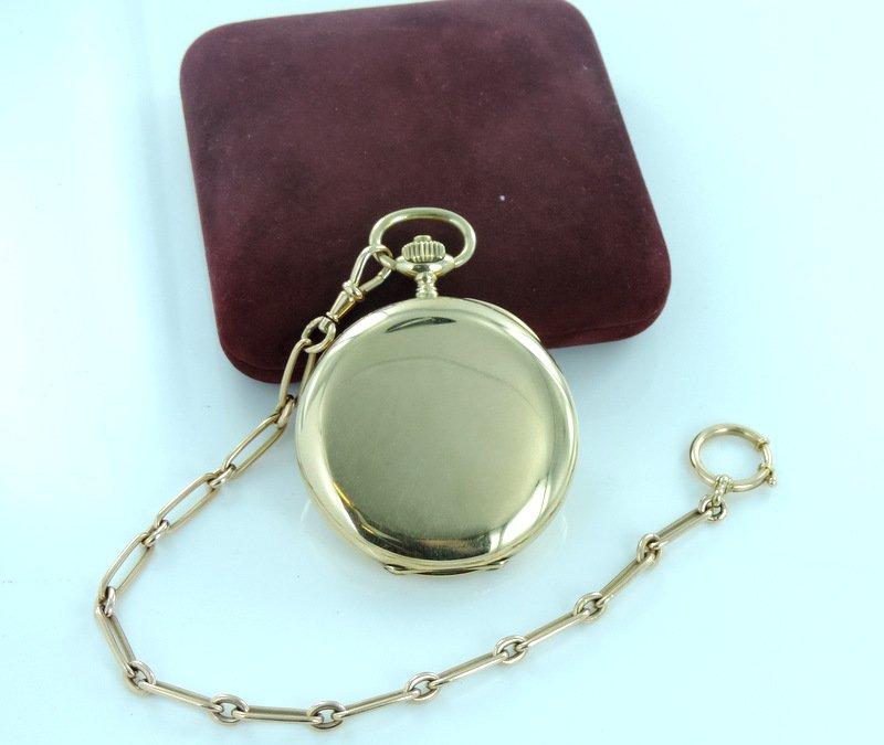Taschenuhr / Uhrenkette Engel vintage antik gold, 43,65