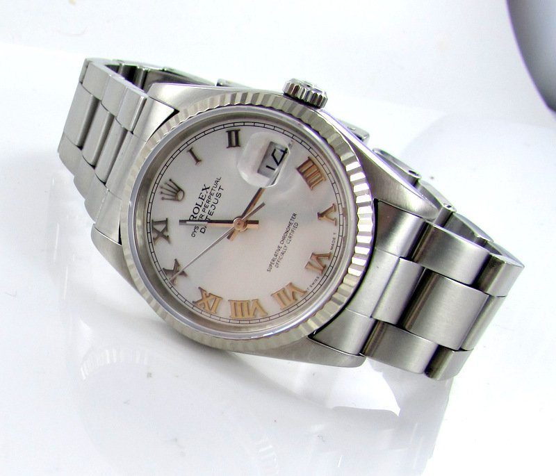 rolex datejust herren uhr oysterband stahl ref 16234 ebay. Black Bedroom Furniture Sets. Home Design Ideas