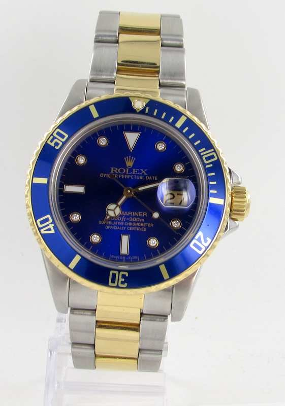 rolex submariner herren uhr diamanten stahl gold ref. Black Bedroom Furniture Sets. Home Design Ideas