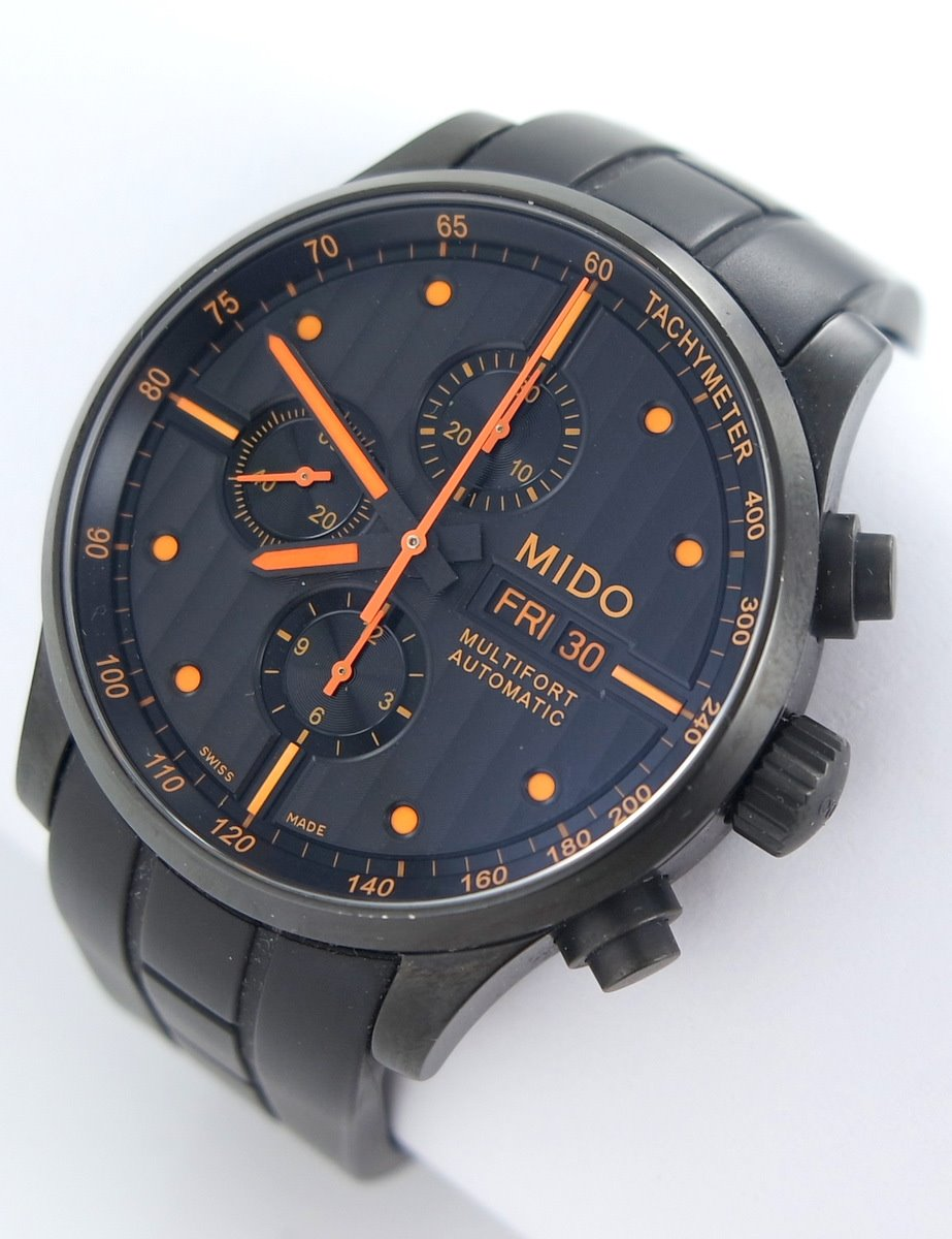 Mido multifort day date automatic men 39 s watch chronograph ebay for Mido watches
