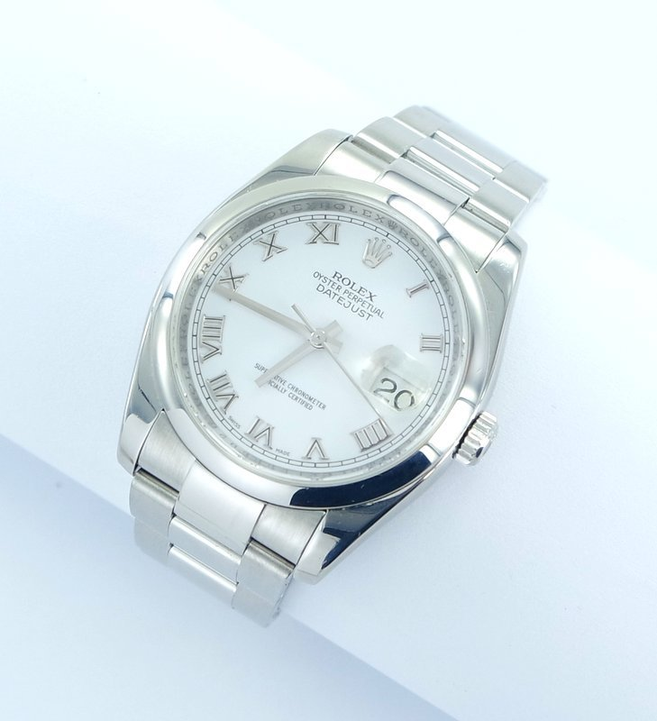 rolex datejust herren uhr edelstahl aus 2007 ebay. Black Bedroom Furniture Sets. Home Design Ideas