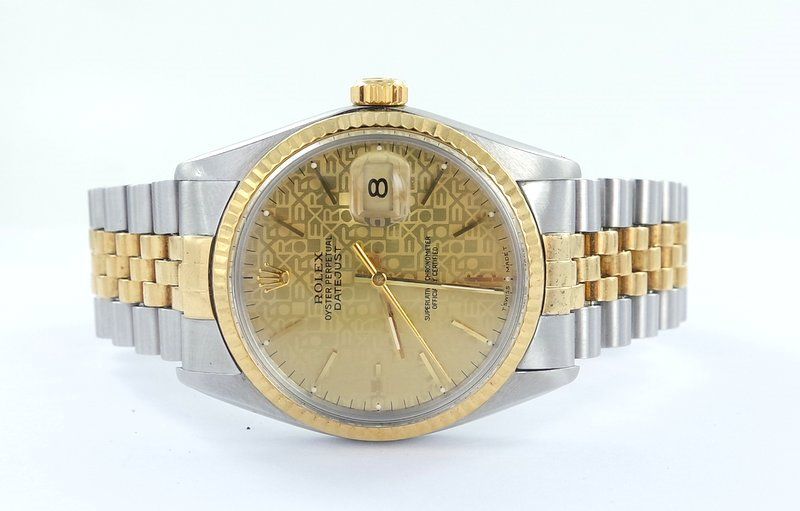 rolex datejust herren uhr stahl gold 16013. Black Bedroom Furniture Sets. Home Design Ideas