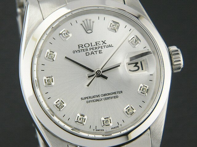 rolex date herren damen uhr diamanten 34mm ebay. Black Bedroom Furniture Sets. Home Design Ideas